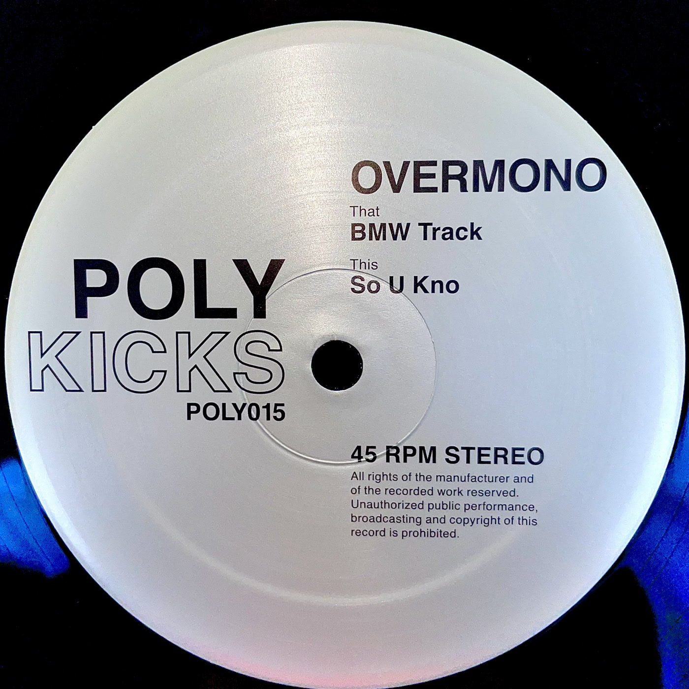 Overmono – BMW Track / So U Kno (Poly Kicks)