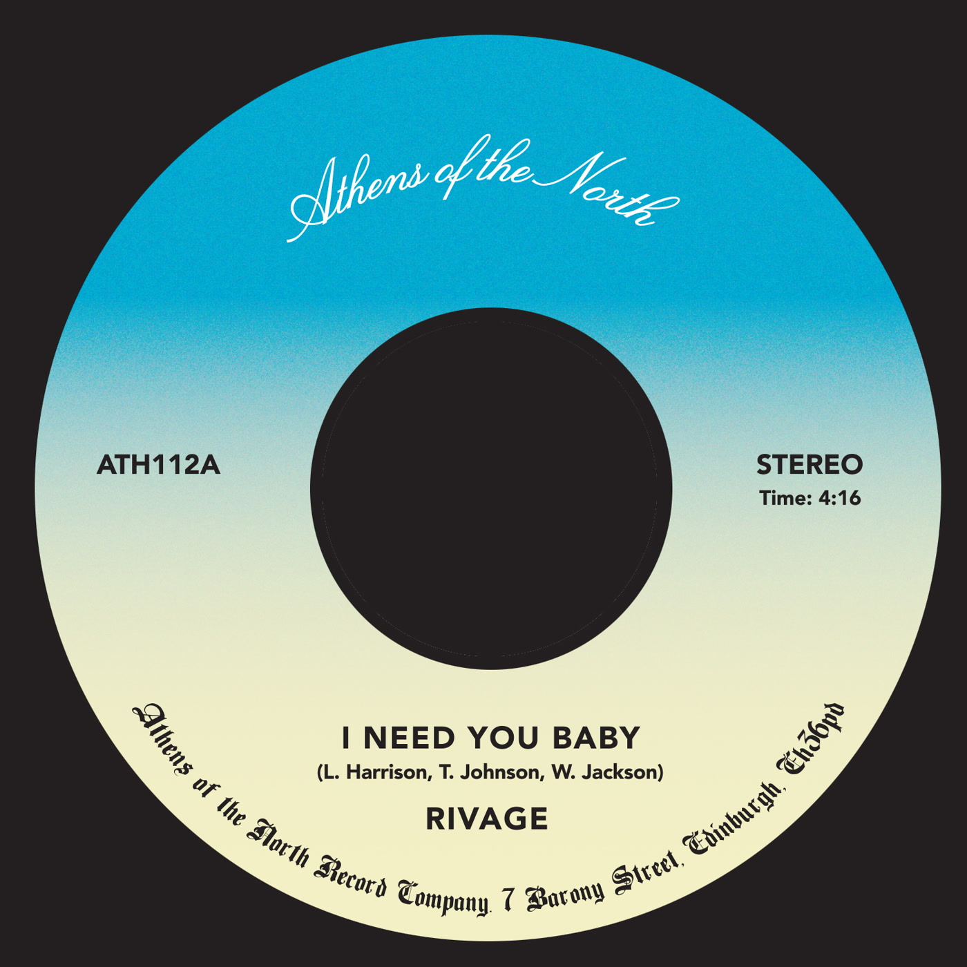 Rivage – I Need You Baby (Athens Of The North)