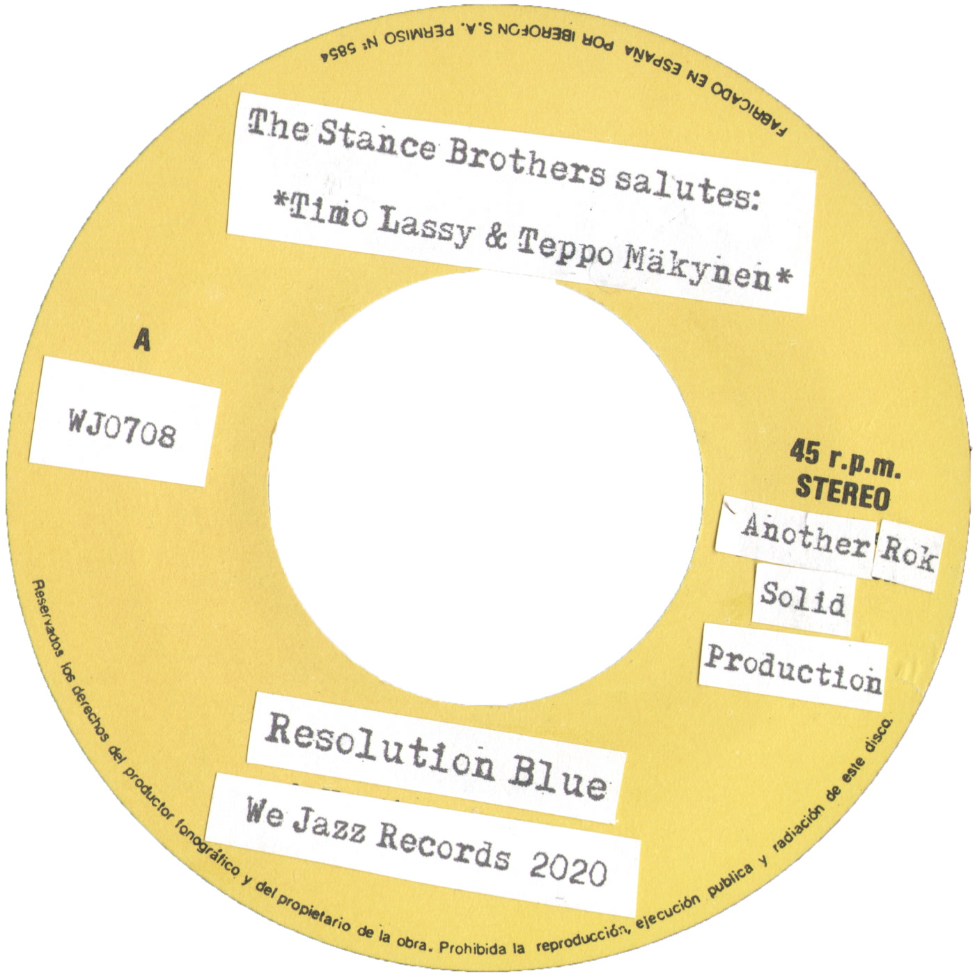 The Stance Brothers – Resolution Blue (We Jazz)